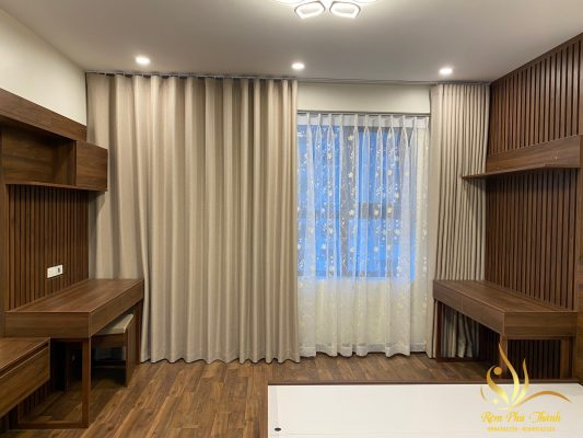 rèm vải cao cấp Nhật Bản cho không gian phòng ngủ chung cư đẹp